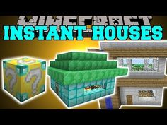 Minecraft: INSTANT HOUSE MOD (CUSTOM HOUSES, TREE HOUSE, LIBRARY & MORE!) Mod Showcase - YouTube