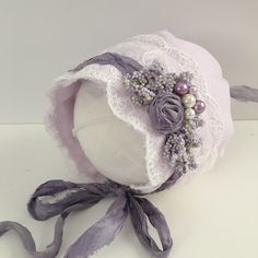 Linen Bonnet Please allow up to 10 days for this item to ship as it is made to order
