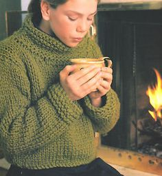 bulky knit sweater pattern - Google Search
