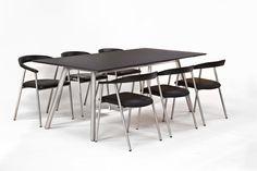 Design Esstisch PLAZA Edelstahl Linoleum Tisch | PICK UP MÖBEL