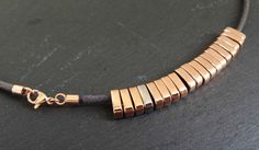 DIY: Rose Gold & Leather Necklace | makery
