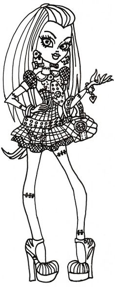 Monster High Free Frankie Stein Coloring SheetsColoring PagesColouringMonster
