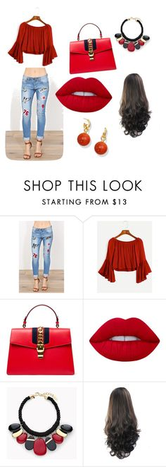 """""""Untitled #82"""" by mirnesa-mirha ❤ liked on Polyvore featuring Machine, Gucci, Lime Crime and Chico's"""