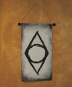 Hand Painted Skyrim Thieves' Guild Canvas Banner  Elder by Lorinas, $18.00