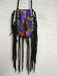 Native American Cherokee Made Medicine Bag with Painting - Native American