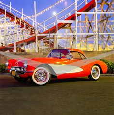 By the design and engineering refinements in the 1957 Chevrolet Corvette made it one of the most enduringly popular sports cars ever manufactured. If you're into thrill rides, consider the 1957 Chevrolet Corvette, Chevy, 1957 Chevrolet, Retro Cars, Vintage Cars, Antique Cars, Volkswagen, Toyota, Classic Corvette