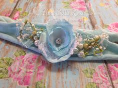 Willow Baby Collection Baby Blue, White, Green, Baby Girl, Newborn, Headband, Organic, Photo Prop, Tieback, Props for Photographers by AmabellaRosa on Etsy