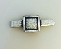 Small Blank Tie Bar // Personalize // Unique // SilverTone // Vintage // Made In The USA by Winky&Dutch