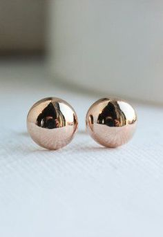 Rose Gold Earrings Rose Gold Studs Wedding