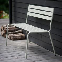 Dean St two-seater metal bench: Graham and Green