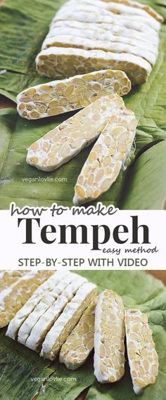 An easy method of how to make tempeh at home. Watch the video tutorial - https://youtu.be/OxG_S0Q-bAg Homemade tempeh cost a fraction of the price of store-bought.
