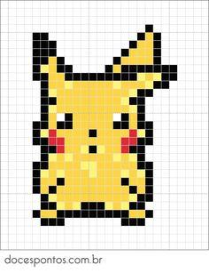 graficos ponto cruz pokemon - Pesquisa Google