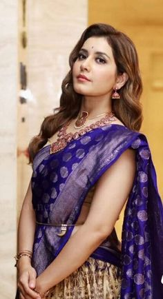 Raasi Khanna wallpaper by Gurusad - 99 - Free on ZEDGE™ Beautiful Girl Photo, Beautiful Girl Indian, Most Beautiful Indian Actress, Beautiful Saree, Beautiful Outfits, Beauty Full Girl, Beauty Women, Half Saree Designs, Blouse Designs