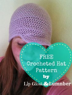FREE Crocheted hat pattern that ANYONE can make at Lip Gloss and Lumber. #DIY #Crochet #Crafts #Freepattern