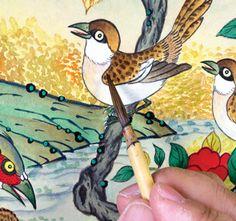 이문성 작가와 함께하는 궁중화조도 그리기 Ⅲ | 월간민화 Korean Painting, Traditional Paintings, Diy And Crafts, Asian, Bird, Animals, Animales, Animaux, Asian Cat