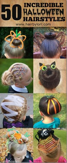 50 Incredible Halloween Hairstyles - there are so many cute and fun ideas in…