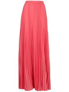halston heritage pleated maxi