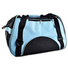 Pets Carriers Airline Approved Pet CarriersSoftsided Comfort Travel Tote High Quality Light Blue -- Check out the image by visiting the link.