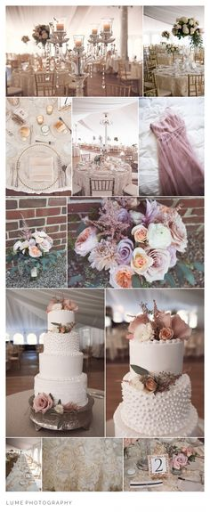 Dusty pink pastel and cream wedding details- Lume Photography