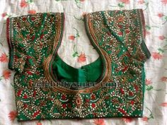 Pretty Mirrors and Embroidered Blouses | Saree Blouse Patterns