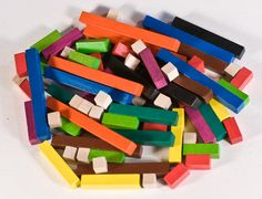 Cuisenaire rods in a pile
