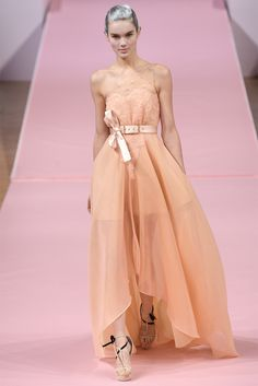 Alexis Mabille - Haute Couture Spring Summer 2013 #gown #dress #peach #bridal #wedding