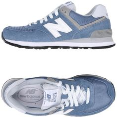 New Balance Low-tops & Sneakers (355 BRL) ❤ liked on Polyvore featuring shoes, sneakers, slate blue, new balance sneakers, animal print sneakers, low profile sneakers, round toe sneakers and blue sneakers