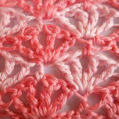 Lacy Treble Shell Stitch