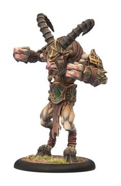 Shadowhorn Satyr Heavy Warbeast #72036 - Warmachine/Hordes NEW in Pack Circle Or