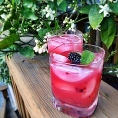 Blackberry Pineapple Smash - omit the rum for a delicious fruity non-alcoholic drink