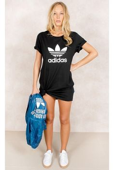 Vestido Adidas Trefoil Tee Preto Fashion Closet - fashioncloset