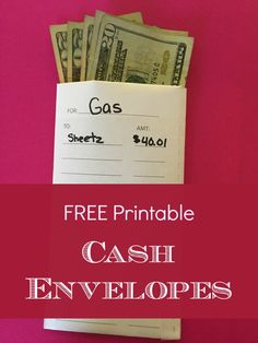FREE Printable Cash Envelopes for Budgeting