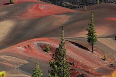 Painted Dunes of Lassen Volcanic National Park
