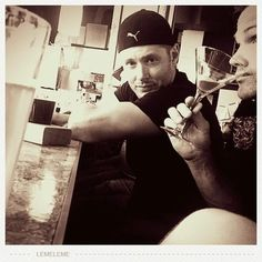 J2 out for a drink. Is Jared drinking a martini? Hahah