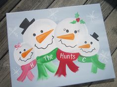 Family snowman canvas...love it! Just ordered mine!