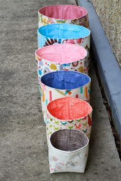 fabric nesting baskets.