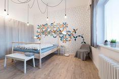 Small apartment in Bratislava, white colors/wallpaper TAPITAPI/ Plywood aplications on Wall/ integierdizajn_sk / archholiks