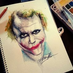 The joker Watercolor on paper