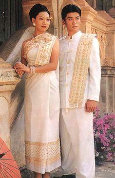 Thai-style wedding dress & suit