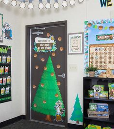 """This adjustable pine tree display makes an adorable addition to any classroom. The pieces can be used to create a tree that is 56"""" tall or 43"""" tall. Assembly instructions and a teacher's guide are included. 74 pieces including 6 pine tree pieces, 63 pine cones, and 5 forest animals."""