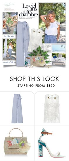 """""""I Never Get Tired Of The Blue Sky"""" by thewondersoffashion ❤ liked on Polyvore featuring Jill Stuart, Dolce&Gabbana, Delpozo, Sophia Webster and Chloé"""