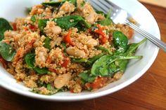 Quinoa Salad with Roasted Tomatoes, Basil, & Balsamic Vinaigrette :)