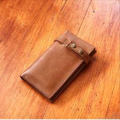 Купить Кожаный мужской портмоне , классика в интернет магазине на Ярмарке Мастеров