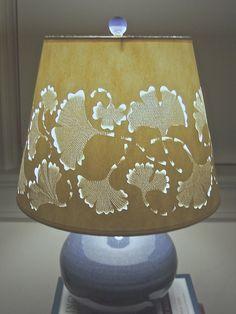 Ginkgo Galore Lamp Shade Cut & Pierced in Heavy by jennybeeshades, $198.00