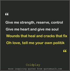 Moving on Quotes coldplay politic