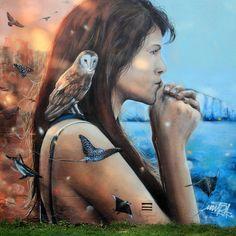 Fabulous Street art illusions by Mantra Rea.|CutPaste Studio| Art Artist Artwork Entertainment Street art Murals Beautiful Illustration Painting Graffiti art