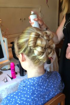 Wedding Hair Up - Barrel Curls www.hairbynickymckenzie.co.uk