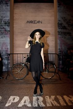 school girl chic. Chiara in Milan. #TheBlondeSalad