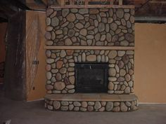 River Rock Fireplace By Ancient Art Of Stone Pictures To Pin On Pictures Mosaic Fireplace, Reface Fireplace, Fireplace Remodel, River Rock Fireplaces, Stone Fireplaces, Stone Pictures, Living Room Remodel, Living Room With Fireplace, Ancient Art