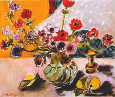 Henri Matisse (1869-1954): Anemones and Chinese Vase (1943)